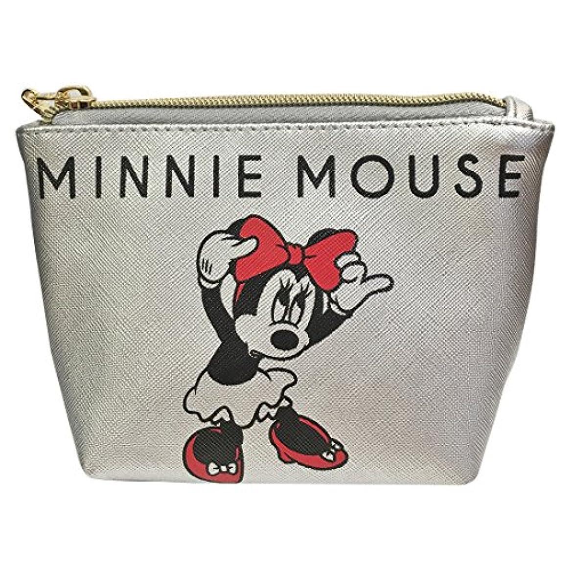 オン敗北満足ディズニー シボ合皮ポーチ ミッキーマウス&ミニーマウス APDS3442