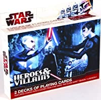 Star Wars - The Clone Wars - Heros and Villains 2 Decks Playing Cards