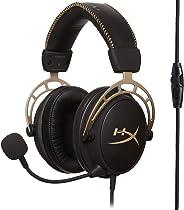 【Amazon.co.jp 限定】HyperX Cloud Alpha ゴールドエディション ゲーミング ヘッドセット インライン音量コントロールBox付屬 2年保証 HX-HSCA-GD/NAP