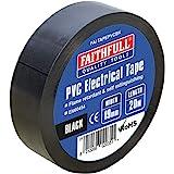 Faithfull FAITAPEPVCBK Black PVC Electrical Tape 19 mm x 20 m