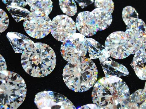 [해외]10mm × 20 마리 세트 AAAAA 큐빅 루스 크리스탈 라운드 브릴리언트 컷/10 mm × 20 grain set AAAAA cubic zirconia loose crystal round brilliant cut