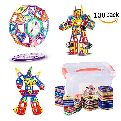 積み木 知育玩具 お祝いプレゼント子供おもちゃ 創意プレゼント想像力を育てる知育玩具(130ピース)
