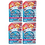 【まとめ買い】トップ スーパーナノックス 洗濯洗剤 液体 詰替超特大 1300g×4個