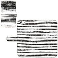 Galaxy S6 SC-05G ☆ ケース・カバー 完全受注生産 完全国内印刷 専用スマホケース 手帳型 テクスチャー 縞模様 白黒 ギャラクシー スマホカバー オリジナルデザイン プリント 日本製