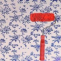 エンボスローラー、液体壁紙壁アートアートペイント印刷珪藻土泥テクスチャアート塗料建設ツール5インチ (色 : B)