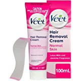 Veet Hair Removal Cream for Normal Skin Soft Silk Extract, 100g