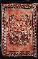 """Traditional Jaipur ケルトの芸術柄ポスター、インドのポスター、ボヘミアンの壁掛け、ヒッピーの寮の部屋の装飾、ジプシーの壁アート、サイズ30""""x40""""、Good Luck Poster"""