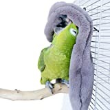 QBLEEV Cozy Corner Fleece Bird Blanket,Parrot Cage Snuggle Hut Cuddle Nest Hanging Toy,Small Animals Shelter Covers Plush Bed