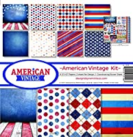 Reminisce American Vintage Scrapbookコレクションキット