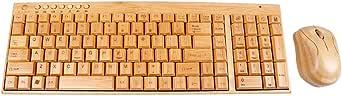 手作りの天然竹材PCワイヤレス2.4GHzキーボードとマウスの組み合わせ