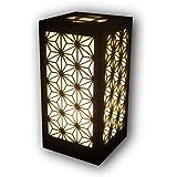 OBORO フロアライト 照明 麻の葉 Mサイズ コンセント おしゃれ 屋内 テーブルランプ 和柄 間接照明 和風 電球ソケット付