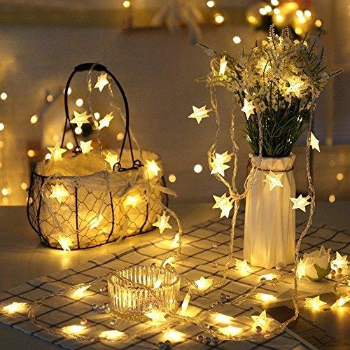 イルミネーションライト 星型装飾LEDストリングライト 防水...