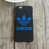 アディダス キャンパス adidas iPhoneケース ハード 軽量 iPhone5,6、6plus対応 白 青 保護 衝撃 シールド (iPhone6 plus, black blue)