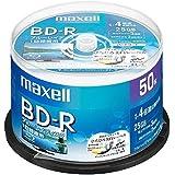 maxell 録画用 BD-R 標準130分 4倍速 ワイドプリンタブルホワイト 50枚スピンドルケース BRV25WP…