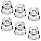 Clear Glass Candlestick Holders, Set of 6 Taper Candle Holders for Wedding, Decoration and Dinning