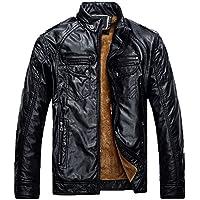 KIMIX 冬物 メンズ アウトドアウェア 防寒コートウトドア コート 冬 ライダースジャケットダウン風 コート PUレザー 3色 KMQ44