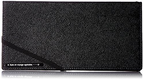 [コンサイス] スキミングブロック パスポートケース皮革調R 貴重品入れ スキミング予防 20cm 0.062kg 293217 BK ブラック