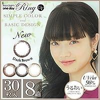 ネオサイト ワンデー リング UV 1箱30枚入 8箱 【カラー】ブラック 【PWR】-2.50