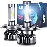 OPP ULITE H4/9003/HB2 LED Headlight Bulbs 48W 10000LM 6000K Xenon White Conversion Kit Mini Design Extremely Bright CSP Chips
