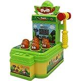 キングクラブ もぐらたたきゲーム ハンマー付属 点数表示 音量調節 親子で楽しむ おもちゃ