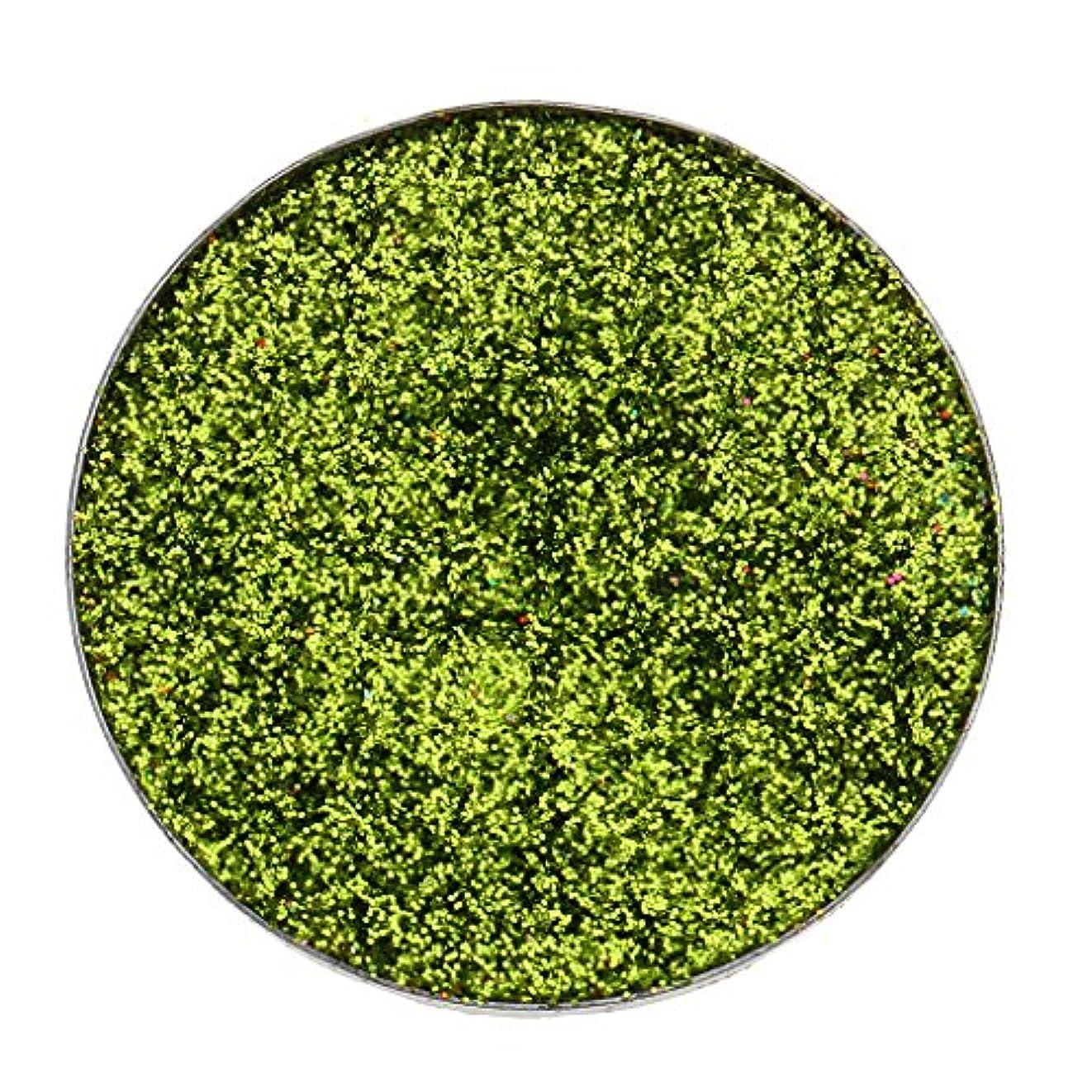 ソーシャル湿度隠全5色 ダイヤモンド キラキラ シマー メイクアップ アイシャドウ 顔料 長持ち 滑らか - 緑
