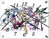 戦姫絶唱シンフォギア ガラス製 掛 置 時計 横型 20×25cm