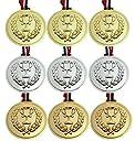 VIEAURA 金メダル 銀メダル 銅メダル 各3個 計9個セット 運動会 幼稚園 保育園 お遊戯 スポーツ 賞