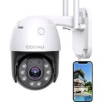 【2021最新360°広角撮影】COOAU 防犯カメラ 屋外 WIFI 監視カメラ 家庭用 1080P 200万画素 ワ…