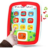 REMOKING Mini Baby Tablet,Kid's Learning Play Centre with Lights and Sounds, Toddlers,Boys and Girls Early Educational Develo