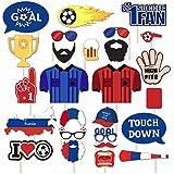 2018ロシア世界サッカーゲーム写真ブース小道具パーティーSupplies Championship Decorations