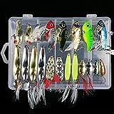 多種類 釣り用 ルアー フィッシングルアー ベイト フック 色々20個セット 収納ケース付 き 金属製 海水魚 淡水魚対応