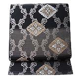 【 新品 芯入れ 仕立て上り 】夏物 袋帯 西陣織 絽 (2) 蔦立涌・花菱模様 正絹 (日本製)