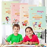 Magic Practice Copybook for Kids - 4 Packs Reusable Writing Practice Book with Magical Pen (The Writing Will Disappear), Numb