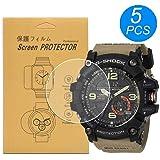 [5-Pack] for Casio GG-1000 / GG1000/GG-1000-1A5CR Watch Screen Protector, Full Coverage Screen Protector for Casio GG-1000 Wa