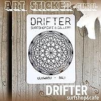 DRIFTER surf shop & cafe (ドリフター サーフショップアンドカフェ) Rob Machado ART STICKER GURU ロブ・マチャド アートステッカー ロゴステッカー サーフィン シール