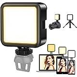 Kekilo LED ビデオライト 撮影用 照明 スマホ カメラ ライト 小型 USB 充電式 3000mAh Type-C 3200k-5600k CRI95+ 色温度調整可能 ソフト光 明るい Zhiyun Smooth 4 DJI OSMO M