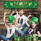 Chuangdi 聖パトリックの日のデコレーション 2019 アイルランドのパーティー用品 幸運のシャムロック バナー クローバー ガーランド 聖パトリックの祝日 ホームデコレーション 20点の水玉のり付き