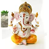 BangBangDa India Ganesh Statue Home Pooja - Hindu Murti Temple Elephants Ganpati - Indian Small Ganesha Collections Diwali De
