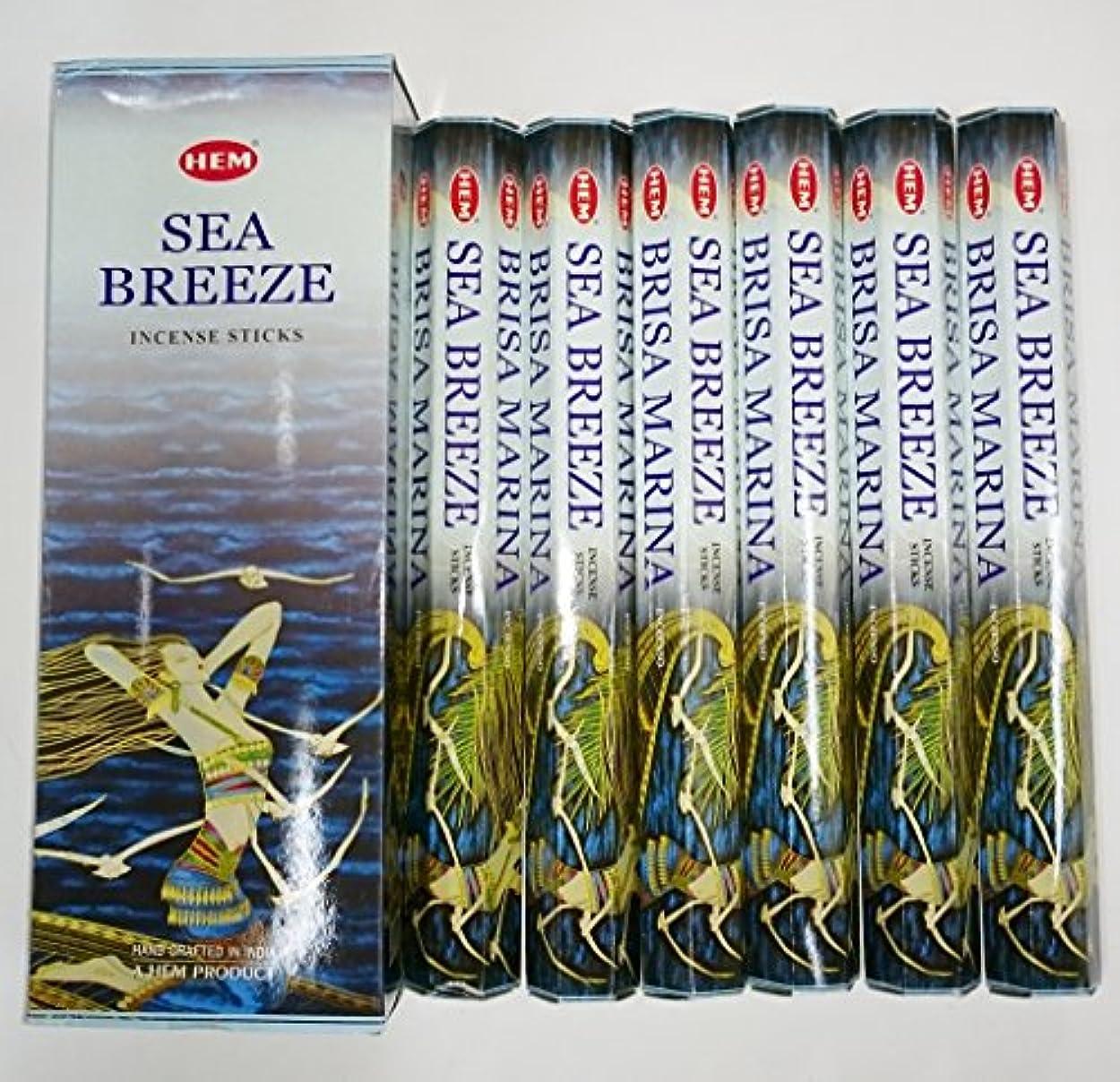 不愉快に学士助言するHEM (ヘム) インセンス スティック へキサパック シーブリーズ 6角(20本入)×6箱 [並行輸入品]SeaBreeze