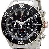 [セイコー]SEIKO SSC015P1 ダイバーズ ソーラー クロノグラフ クオーツ ブラック×シルバー メンズ腕時計 [逆輸入品]