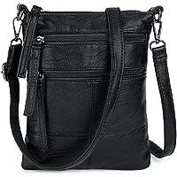 UTO Women Small Crossbody Bag Roomy Multi Pockets Cell Phone iPad-Mini Kindle Holder Shoulder Purse Wallet Bags