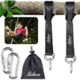 Tree Swing Hanging Straps Kit - Holds 2000 lbs, 5ft Extra Long Straps Strap with 2 Tree Protectors & 2 Safer Lock Snap Carabi