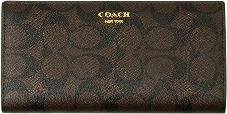 COACH シグネチャー柄 コーチ スリム ブレスト メンズ 紳士用 二つ折り長財布 新品 箱付き 2色 F74599