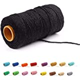 (100 Yards/2mm/19 Colors)100 DIY Macrame Cord Craft Macramé Cotton Baker Twine Craft Making Knitting Cord Rope DIY Wedding De