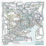 東京カートグラフィック 鉄道路線図ハンカチ 首都圏 日本語 RHSJ