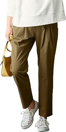 ANGELIEBE エンジェリーベ マタニティ 産前産後 対応 テーパード チノパン 妊婦服 腹囲調節可 パンツ ズボン