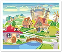 JP London POSLT2062 uStrip Lite Removable Wall Decal Sticker Mural Crazy Cartoon Village Friends, 24-Inch x 19.75-Inch [並行輸入品]
