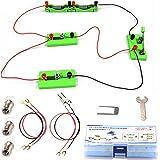 DETEKER 電気回路実験キット 知育学習 科学実験 子ども 理科 自由研究 豆電球 実験 セット サイエンス実験 クリスマス 誕生日 プレゼント