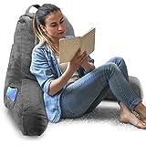 Springcoo 読書 用 取り外し可能なカバー 素晴らしいサポート付きピロー細切り泡テレビ枕 読んでリラックスし テ…