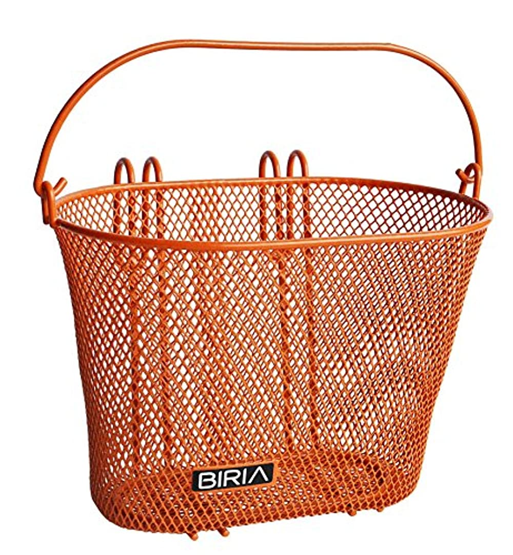 兵器庫批判的キャプションビリアバスケット フック付き オレンジ フロント 取り外し可能 子供用 ワイヤーメッシュ 小さな子供用自転車バスケット オレンジ